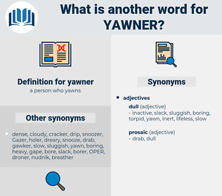 yawner, synonym yawner, another word for yawner, words like yawner, thesaurus yawner