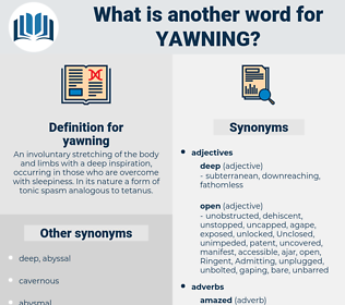 yawning, synonym yawning, another word for yawning, words like yawning, thesaurus yawning