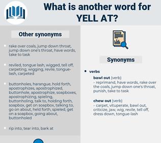 yell at, synonym yell at, another word for yell at, words like yell at, thesaurus yell at