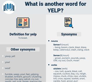 yelp, synonym yelp, another word for yelp, words like yelp, thesaurus yelp