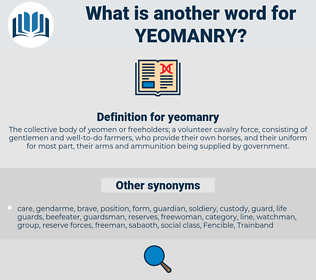 yeomanry, synonym yeomanry, another word for yeomanry, words like yeomanry, thesaurus yeomanry