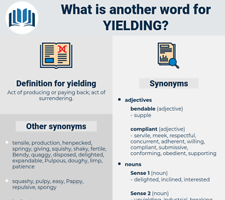 yielding, synonym yielding, another word for yielding, words like yielding, thesaurus yielding