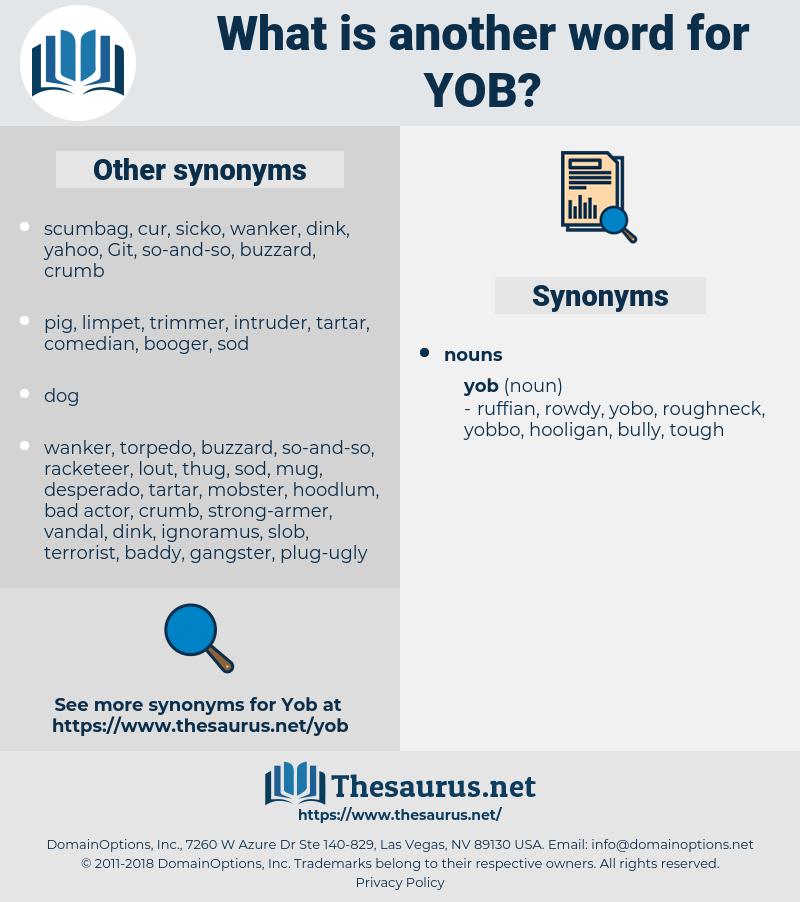 yob, synonym yob, another word for yob, words like yob, thesaurus yob