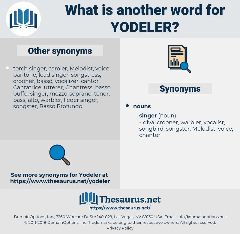 yodeler, synonym yodeler, another word for yodeler, words like yodeler, thesaurus yodeler