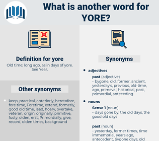 yore, synonym yore, another word for yore, words like yore, thesaurus yore