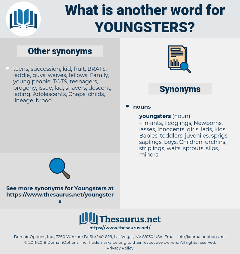 youngsters, synonym youngsters, another word for youngsters, words like youngsters, thesaurus youngsters