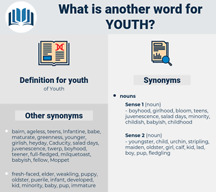 youth, synonym youth, another word for youth, words like youth, thesaurus youth