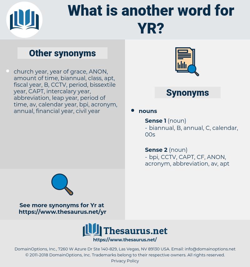 yr, synonym yr, another word for yr, words like yr, thesaurus yr