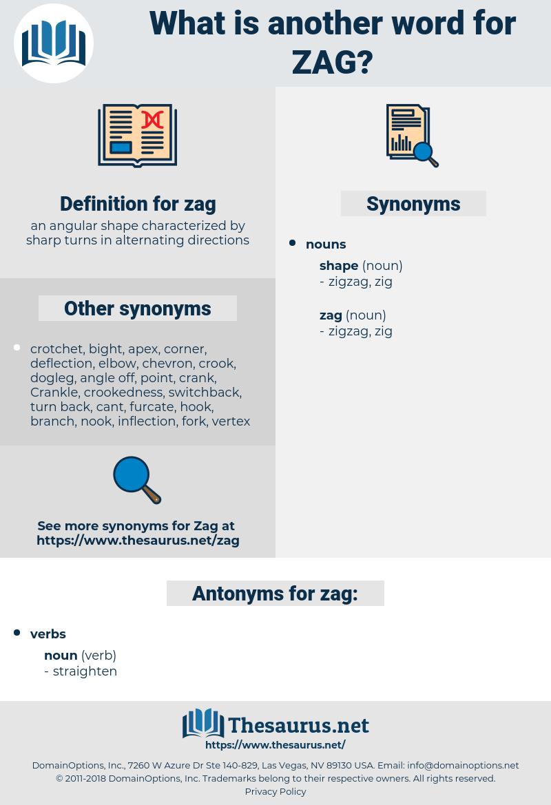 zag, synonym zag, another word for zag, words like zag, thesaurus zag