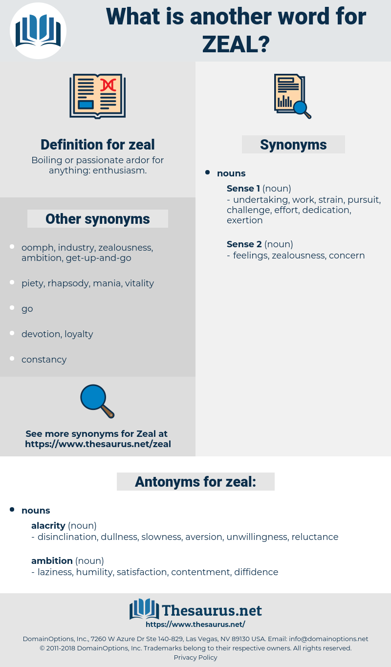 zeal, synonym zeal, another word for zeal, words like zeal, thesaurus zeal