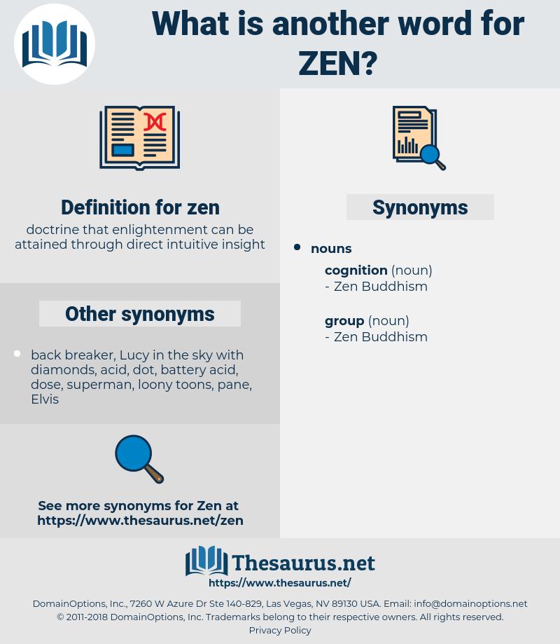 zen, synonym zen, another word for zen, words like zen, thesaurus zen