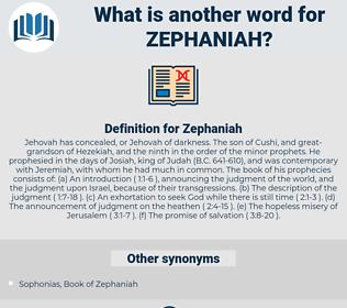 Zephaniah, synonym Zephaniah, another word for Zephaniah, words like Zephaniah, thesaurus Zephaniah