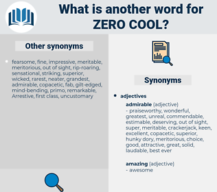 zero cool, synonym zero cool, another word for zero cool, words like zero cool, thesaurus zero cool
