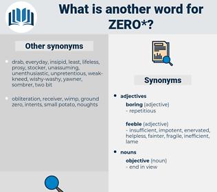 zero, synonym zero, another word for zero, words like zero, thesaurus zero