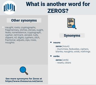 Zeros, synonym Zeros, another word for Zeros, words like Zeros, thesaurus Zeros