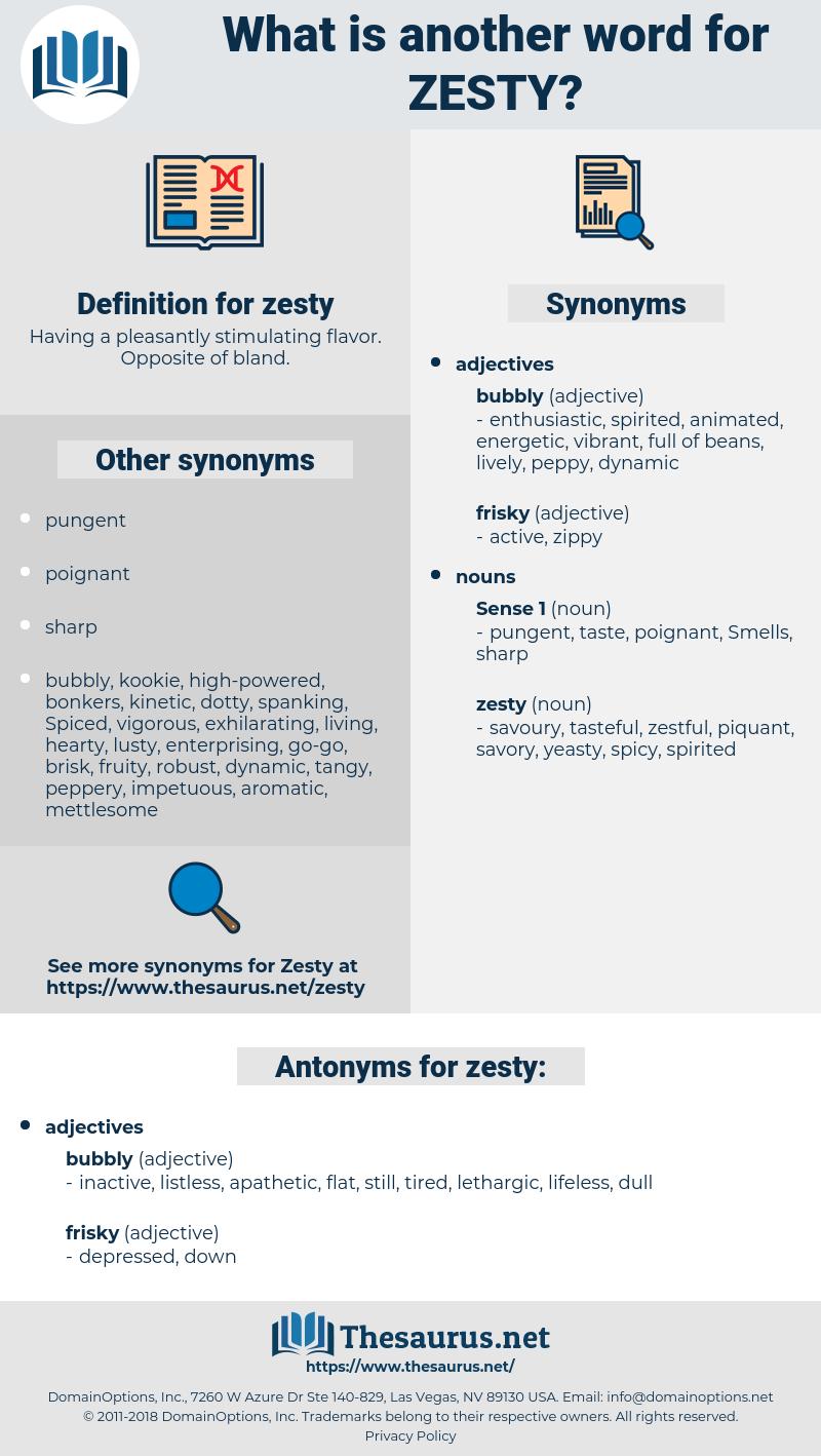 zesty, synonym zesty, another word for zesty, words like zesty, thesaurus zesty
