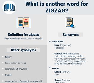 zigzag, synonym zigzag, another word for zigzag, words like zigzag, thesaurus zigzag