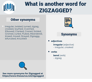 Zigzagged, synonym Zigzagged, another word for Zigzagged, words like Zigzagged, thesaurus Zigzagged