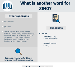 zing, synonym zing, another word for zing, words like zing, thesaurus zing