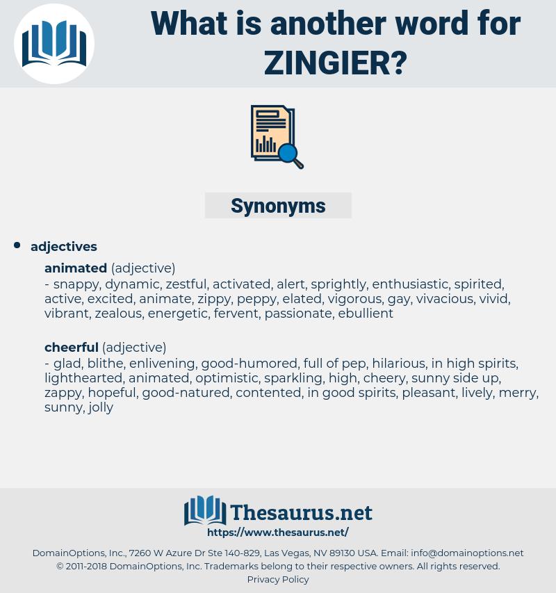 zingier, synonym zingier, another word for zingier, words like zingier, thesaurus zingier