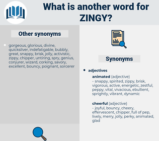 zingy, synonym zingy, another word for zingy, words like zingy, thesaurus zingy