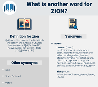 zion, synonym zion, another word for zion, words like zion, thesaurus zion