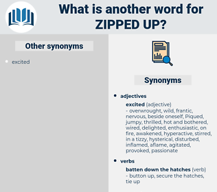zipped up, synonym zipped up, another word for zipped up, words like zipped up, thesaurus zipped up