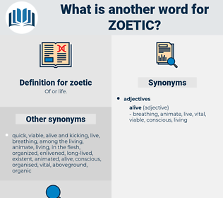 zoetic, synonym zoetic, another word for zoetic, words like zoetic, thesaurus zoetic