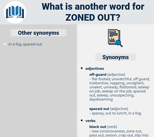 zoned out, synonym zoned out, another word for zoned out, words like zoned out, thesaurus zoned out