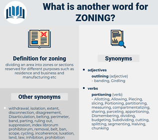 zoning, synonym zoning, another word for zoning, words like zoning, thesaurus zoning