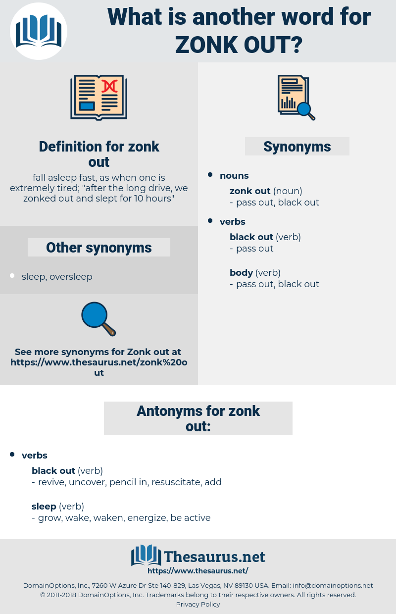 zonk out, synonym zonk out, another word for zonk out, words like zonk out, thesaurus zonk out