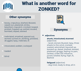 zonked, synonym zonked, another word for zonked, words like zonked, thesaurus zonked