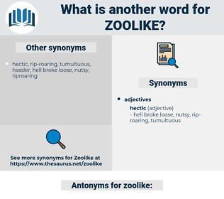 zoolike, synonym zoolike, another word for zoolike, words like zoolike, thesaurus zoolike