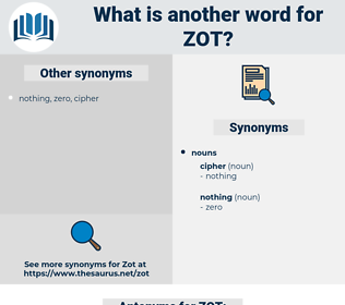 ZOT, synonym ZOT, another word for ZOT, words like ZOT, thesaurus ZOT